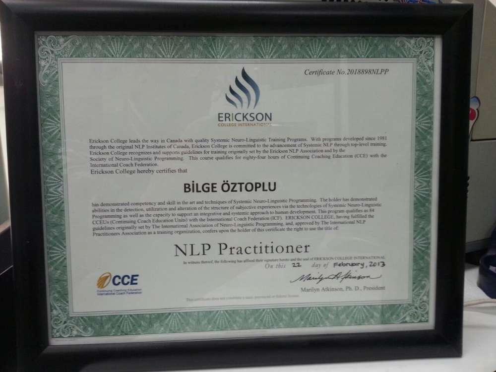 Erickson College International-NLP Pracitioner (uygulayıcı) Eğitimi