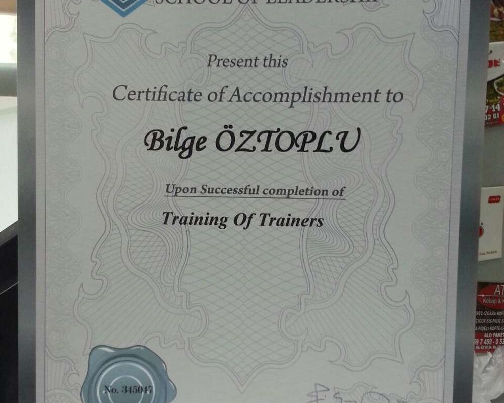 Schools of Leadership-Training of Trainers 1- Eğitimi